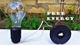 Free Energy Light Bulbs - 220v Using Magnet