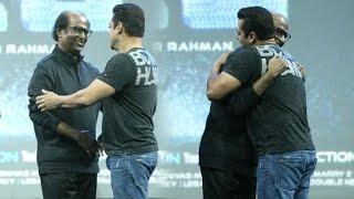 Salman Khan HUGS & Shows Respect For Rajnikanth At Robot 2.0 First Look Launch