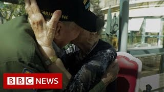 French and american lovers reunited 75 years on from WW2 - BBC News