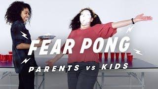 Parents & Kids Play Fear Pong (Leslie vs. Seneca)   Fear Pong   Cut