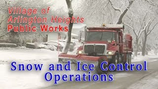 Public Works - Snow and Ice Control Operations - Village of Arlington Heights
