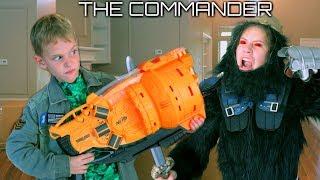 The Commander Wars: Nerf Blaster Gorilla Attack! Hope & Noah SuperHero Kids SHK Comic