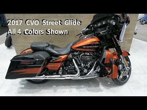 2017 CVO Street Glide Harley-Davidson │Colors and Description │What's New