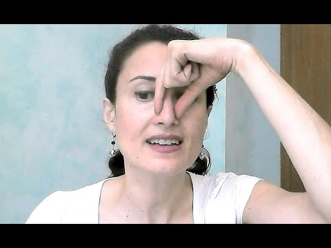 Exercises to slim and lift the nose. Smaller Nose with face yoga.