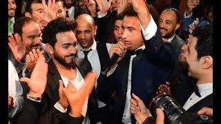 زغروطة علي ربيع بعد ماطلبها تامر حسني في فرح محمد انور مش ممكن ع الضحك!