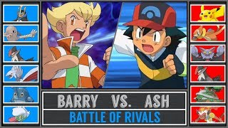 Ash vs. Barry (Pokémon Sun/Moon) - Sinnoh Battle of Rivals