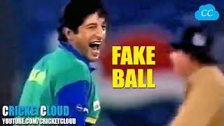 Wasim Akram bowled FAKE BALL into the RIBS - SHOCKED THE BATSMAN !!