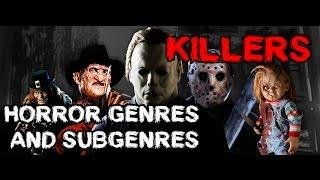 Horror Genres and Sub-Genres [Killer Movies] - Sub. Esp.
