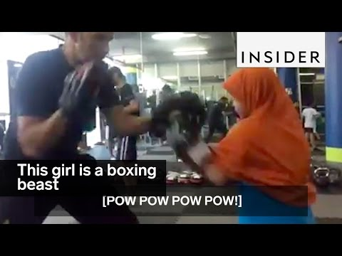 This 9-year-old girl just out-boxed her boxing coach