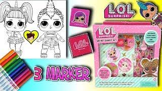 LOL Surprise Diario Secreto y 3 Marker Challenge con LOL Unicornio y Punk Boi