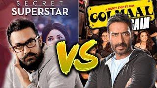 This Diwali Its Aamir Khan Vs Ajay Devgn | Secret Superstar Clashes With Golmaal Again