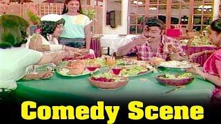 Therkathikkallan Movie : Vijaykanth Eating A Food In Hotel Comedy Scene