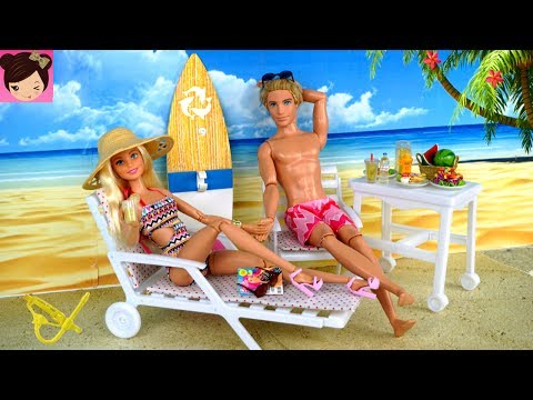Barbie & Ken Beach Vacation Morning Routine - Barbie Doll Snorkeling Under Water Play for Kids