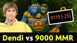 Dendi Ogre Magi vs 9,000 MMR — back to high MMR bracket