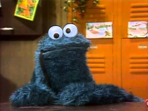 Sesame Street Cookie Monster contacts Santa 4 parts