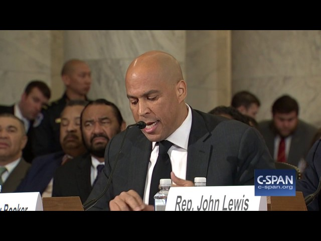 Sen. Cory Booker complete testimony against Senator Sessions (C-SPAN)