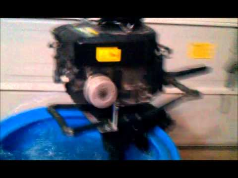 Making a Homemade Boat Motor start to finish Lawn Mower engine