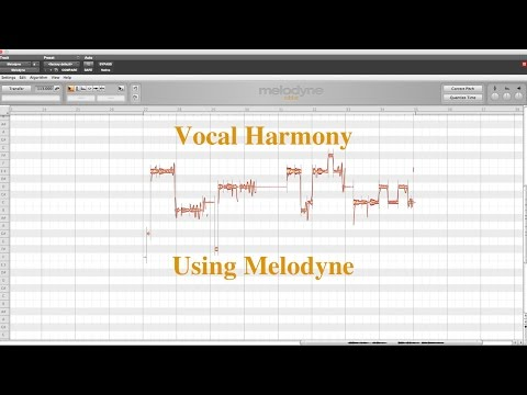 Creating Vocal Harmony in Melodyne