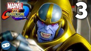 MARVEL VS CAPCOM INFINITE Story Mode Walkthrough Part 3 Thanos with Liam!
