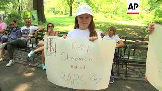 Rally in Central Park Against Mark David Chapman