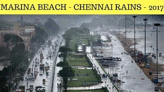 Chennai Rains 2017 - Marina Beach...