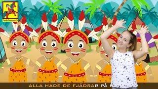 Barnsånger med handrörelser | Tio små indianer