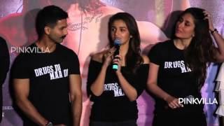 Shahid, Kareena, Alia, Diljit Dosanjh at Udta Punjab Trailer Launch