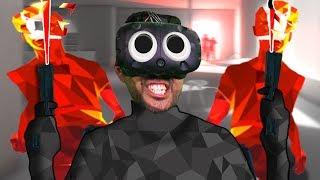 HEADSHOT ONLY CHALLENGE | SuperHot (HTC Vive Virtual Reality)