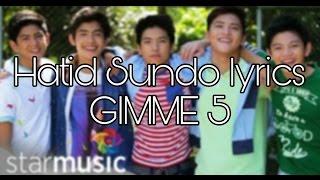 Hatid Sundo lyrics - Gimme 5