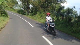 Touring Lokal Mulusnya Paha Cewek SMA || Yamaha New Scorpio Z