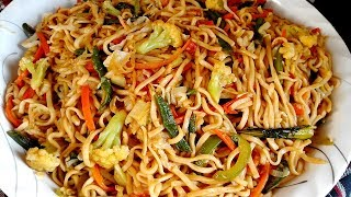 Bangladeshi Chinese Vegetable Chow Mein Noodles Recipe - Bangla Chinese Ranna/চাইনিজ ভেজিটেবল নুডুলস