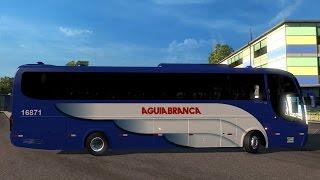 ETS2 Ônibus da Águia Branca Marcopolo Paradiso 1200 G6 4x2 toco. Traveling by bus . Ets2 Versão 1.31
