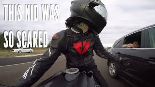CLOSE CALL! Motorcycle nearly crash into Car, ALL the Cellphones, SCARED EM + New GoPro!