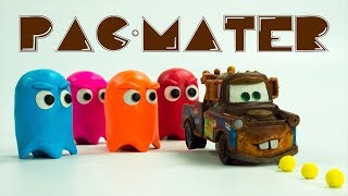 MATER GETTING SUCKED INTO A VIDEO GAME | PAC-MATER Plays PAC-MAN Arcade Gaming Cars Challenge