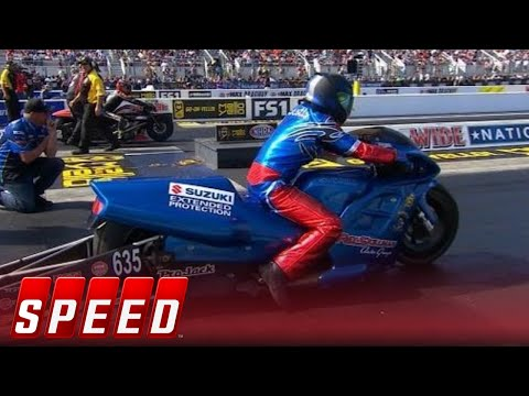 Four-Wide Nationals Pro Stock Motorcycle Final - Charlotte | 2017 NHRA DRAG RACING