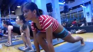 HOW TO BECOME A POLE DANCER, CUTE GIRLS PERFORM. GOLD'S GYM  CEBU PHILIPPINES   Broadband