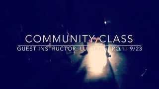 Community Class with Lui Tangaro III