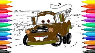 How To Draw Cars 3 Tow Mater Coloring Pages How To Coloring Cars 3 Tow Mater Funny Coloring Book