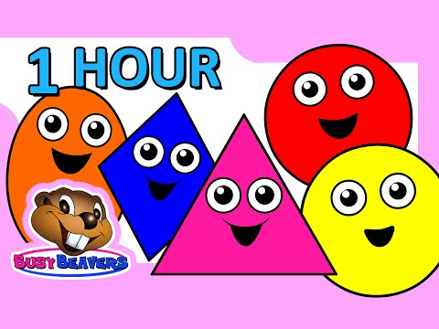 Colors & Shapes DVD 1 Hour Super Simple Colours Little Baby Songs Kids Learn Nursery Rhymes