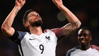 Pays-Bas - France : le but de Giroud à Amsterdam