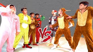 ULTIMATE ONESIE DANCE BATTLE AGAINST THE DOBRE BROTHERS!!!