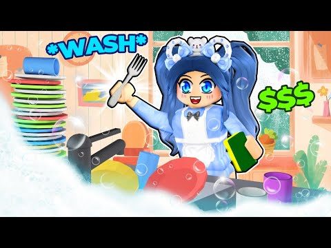 Washing EXPENSIVE Dishes in Roblox
