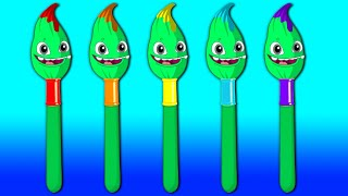 Magic Colors and Numbers! Learn with Groovy The Martian Cartoons + Sing Baby Shark Nursery Rhymes