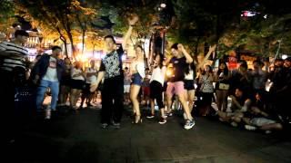 8090댄스 자자 버스안에서+컨츄리꼬꼬 김미김미 홍대 놀이터 버스킹 공연! 몸치탈출댄스학원 댄스조아