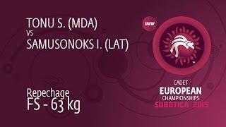 Repechage FS - 63 kg: S. TONU (MDA) df. I. SAMUSONOKS (LAT), 8-5