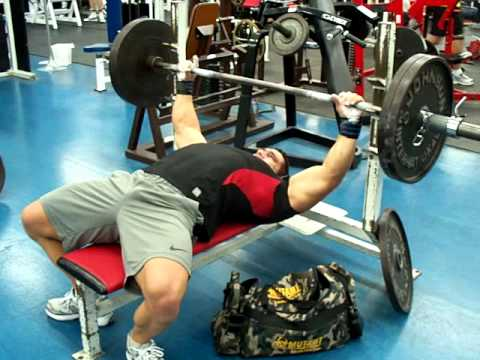 Greg  Doucette IFBB PRO Bench Press 225 lbs 54 reps at 211 lbs NFL Combine Power Test