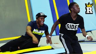 KSI vs. TBJZL: TOBI'S EPIC OVERHEAD KICK - Trampoline Football | Rule'm Sports