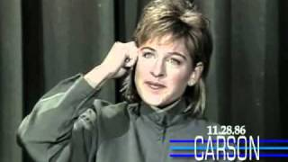 Ellen Degeneres Funny 1st Appearance Doing Stand Up Comedy on Johnny Carson's Tonight Show