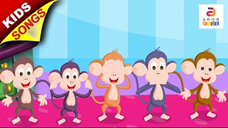Five Little Monkeys Jumping on the Bed | English Rhymes For Children | Kindergarten Songs