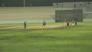 Saddam of Hanan Cricket Club Qatar Bowlling in HANAN Premier League 2016 QATAR